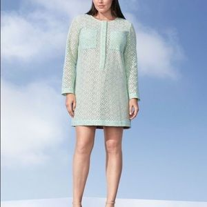 VICTORIA BECKHAM mint green lace dress 1X
